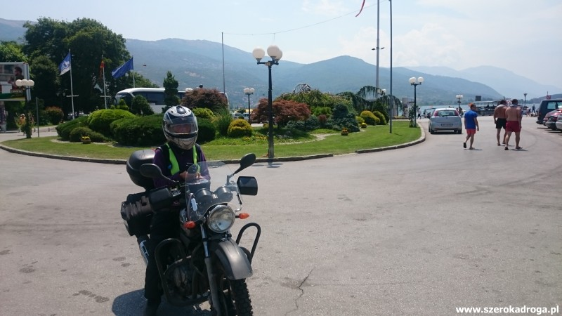 Ochryd, Macedonia motocyklem Yamaha YBR 125