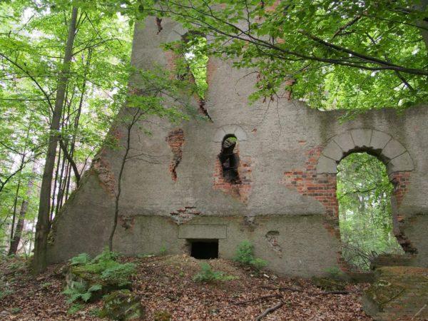 sztuczne ruiny zamku Jastrzębia skała