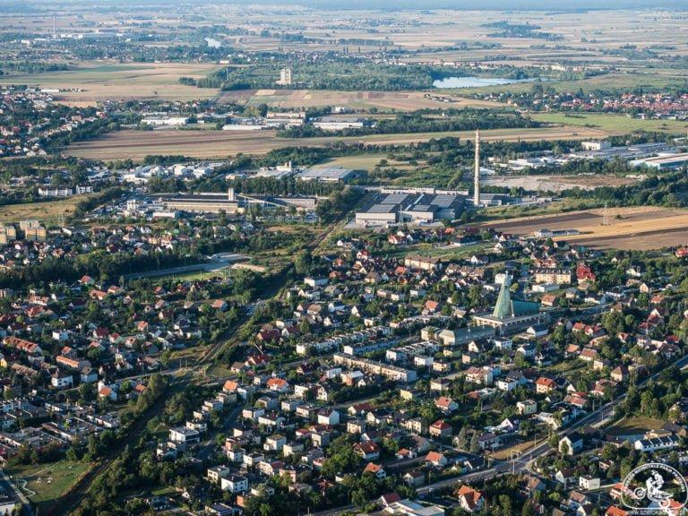 lot balonem - Opole z lotu ptaka